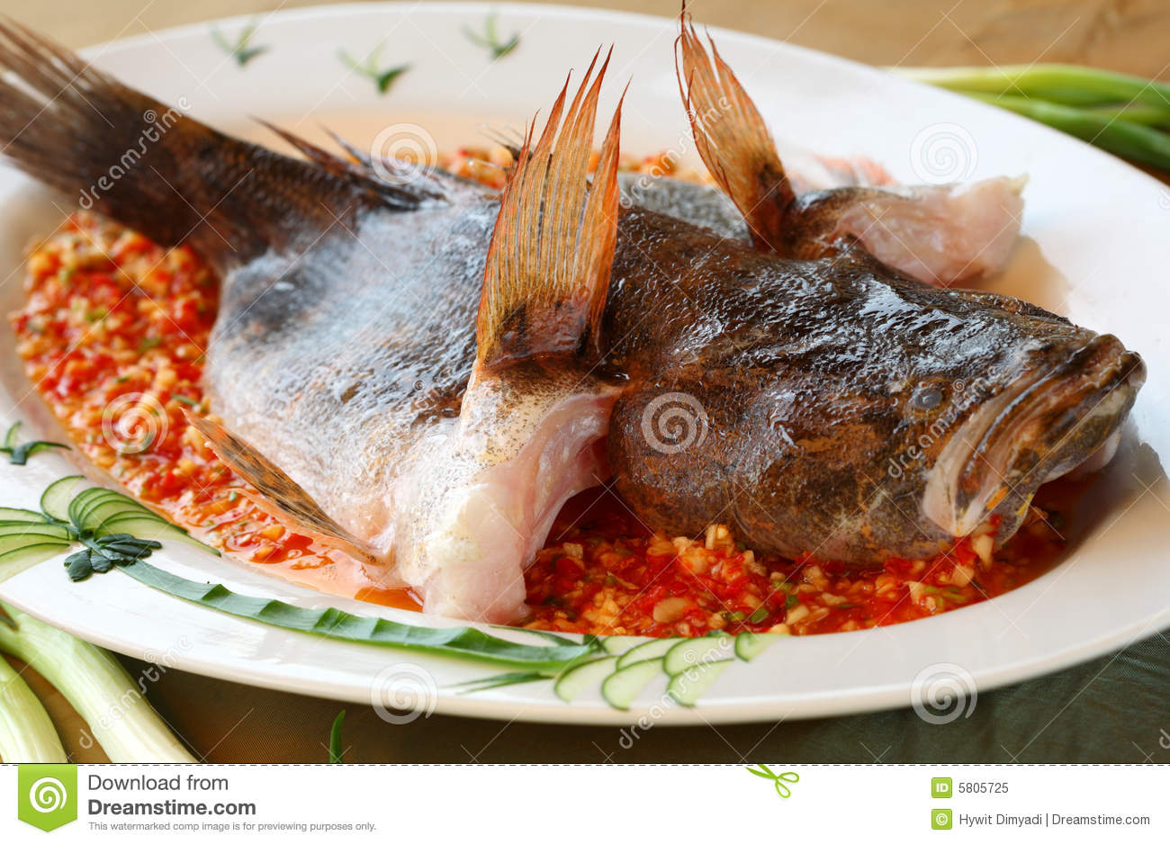 Steamed whole fish royalty free stock photo image 5805725 for Steamed whole fish