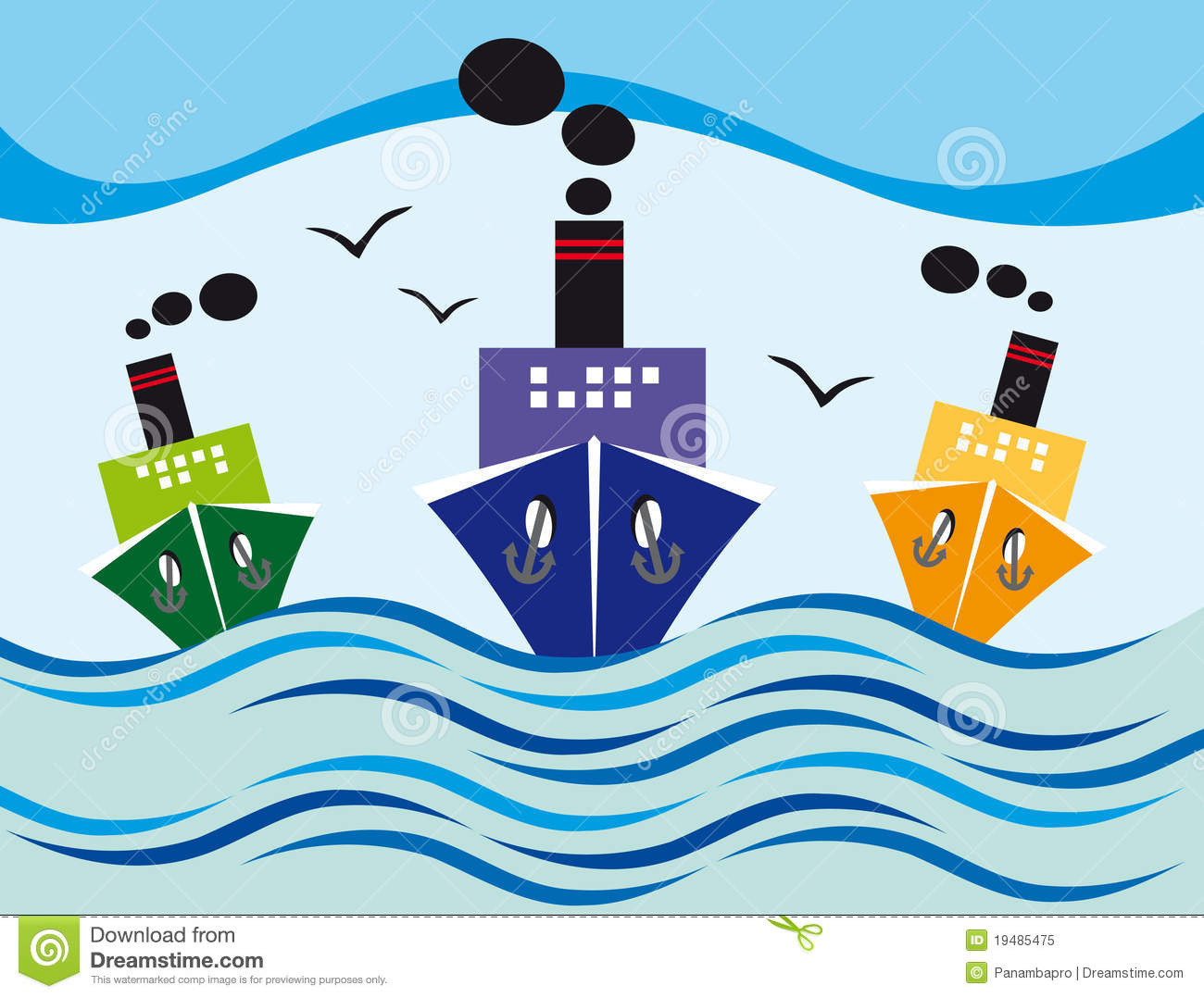 Steamers Royalty Free Stock Photo Image 19485475