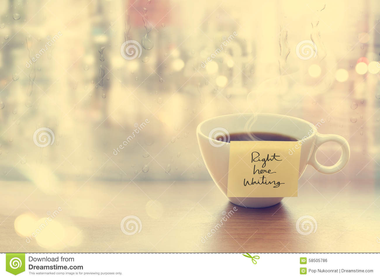 Steaming Coffee Cup With Emotion Message Cup In Coffee