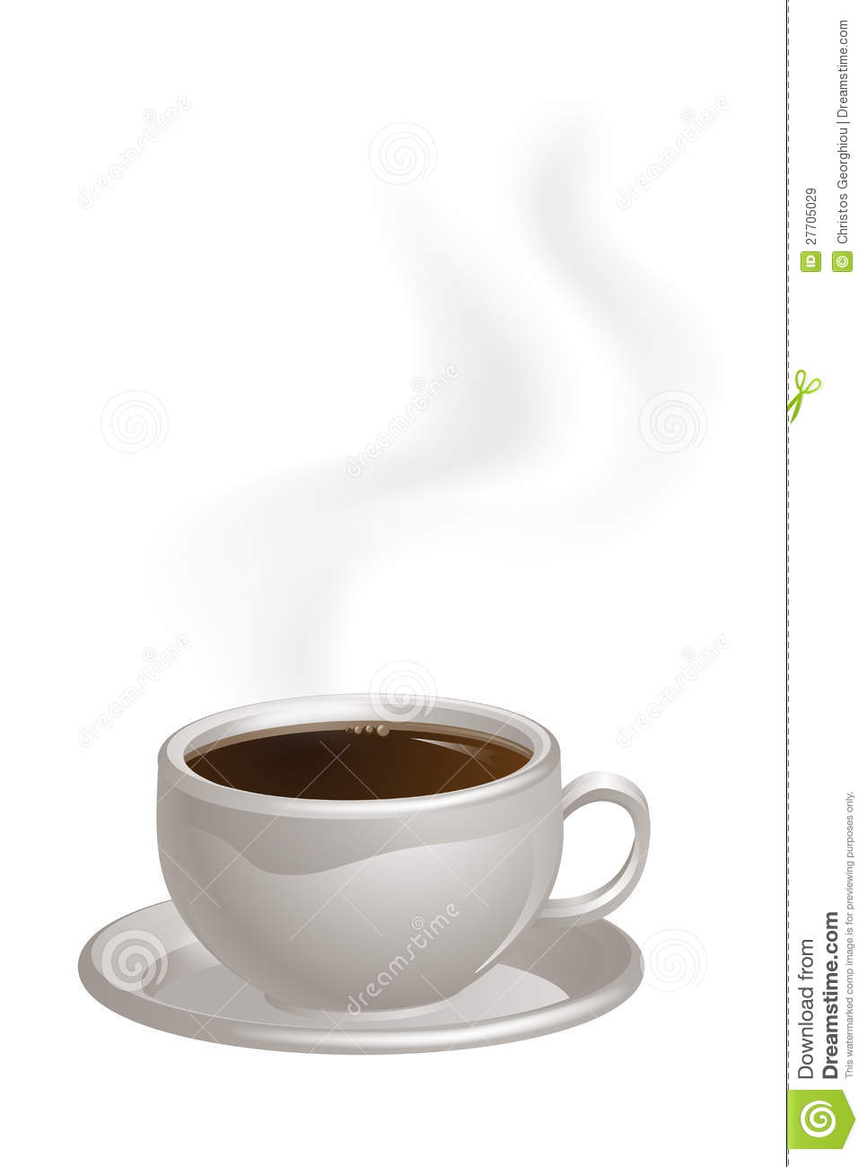 Steaming Coffee Cup On Saucer Stock Vector - Illustration ...