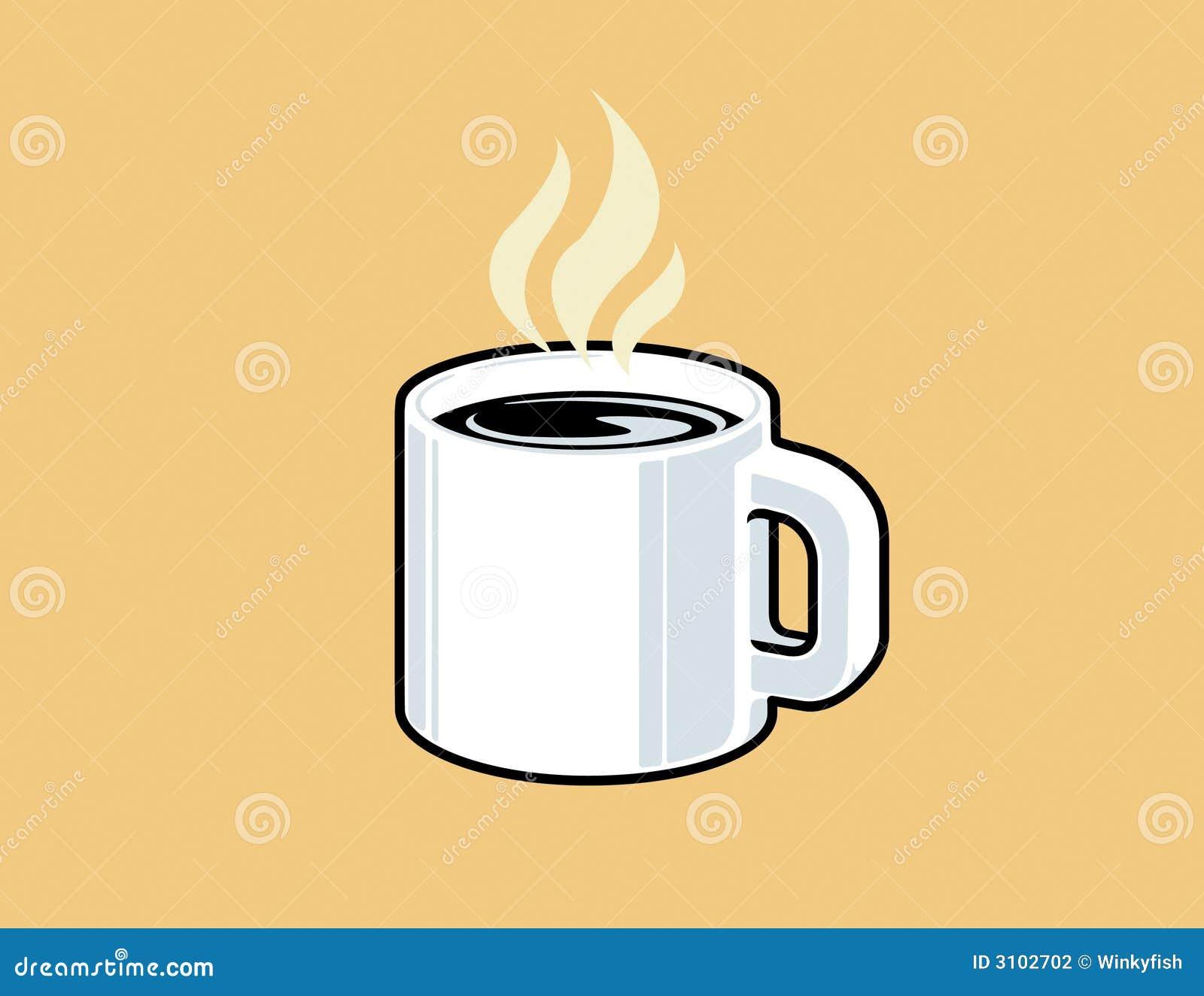 Steaming Mug Of Coffee Stock Vector Illustration Of Beige 3102702