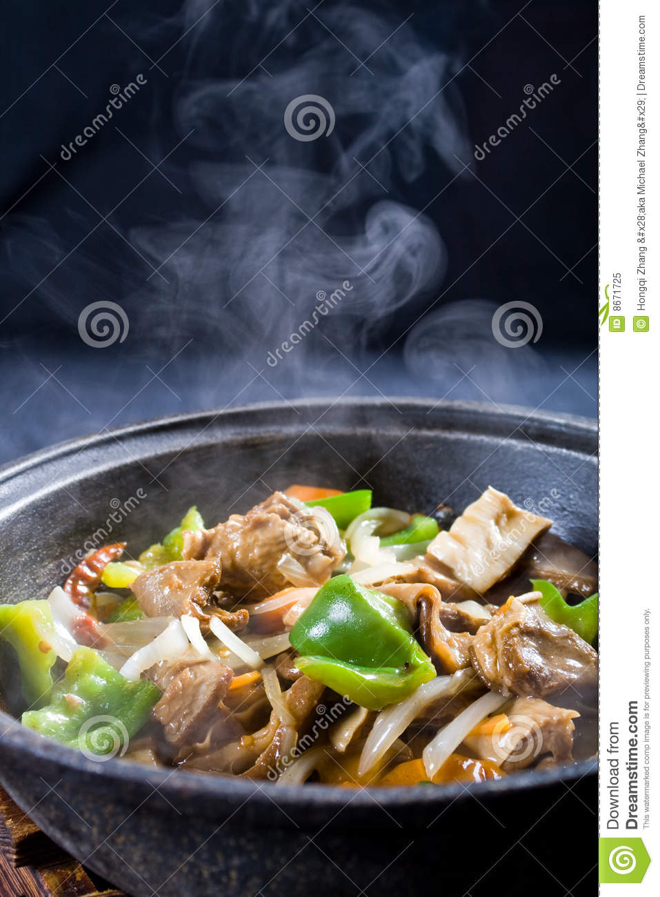 Steaming stew