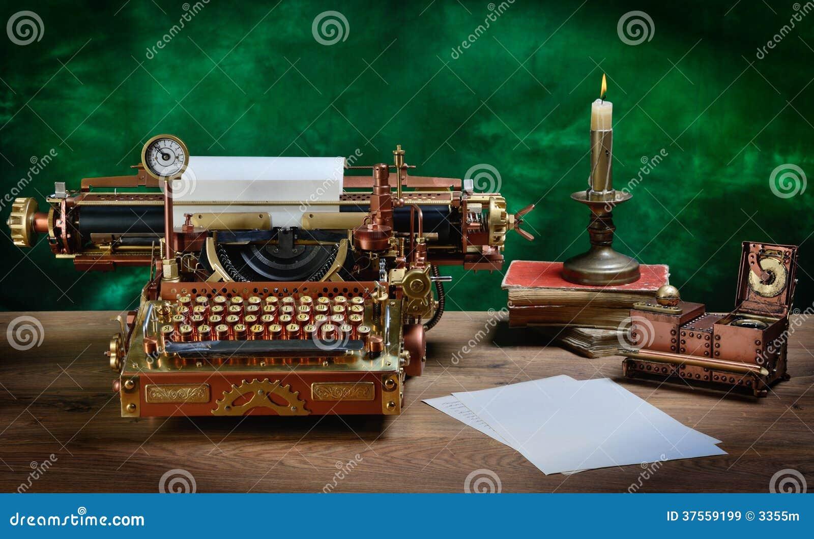 Steampunk打字机。
