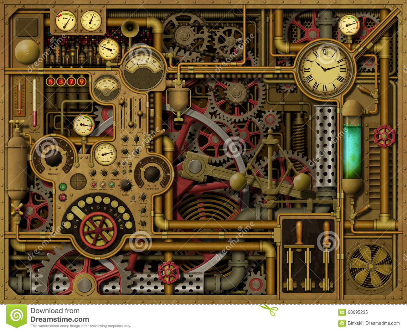 Steampunk Background Stock Illustration Image Of