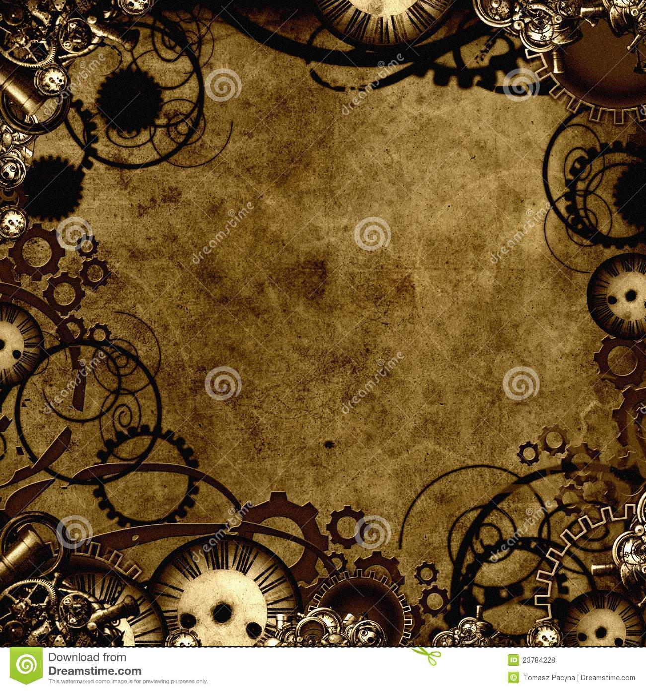 Steampunk Background Texture Stock Illustration