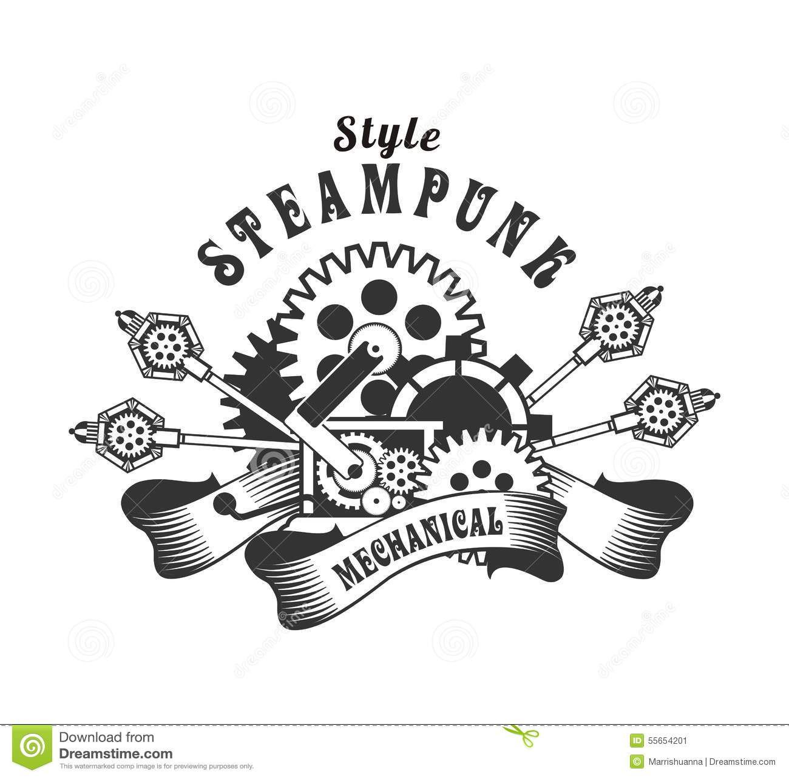 Steampunk Badge Stock Vector - Image: 55654201