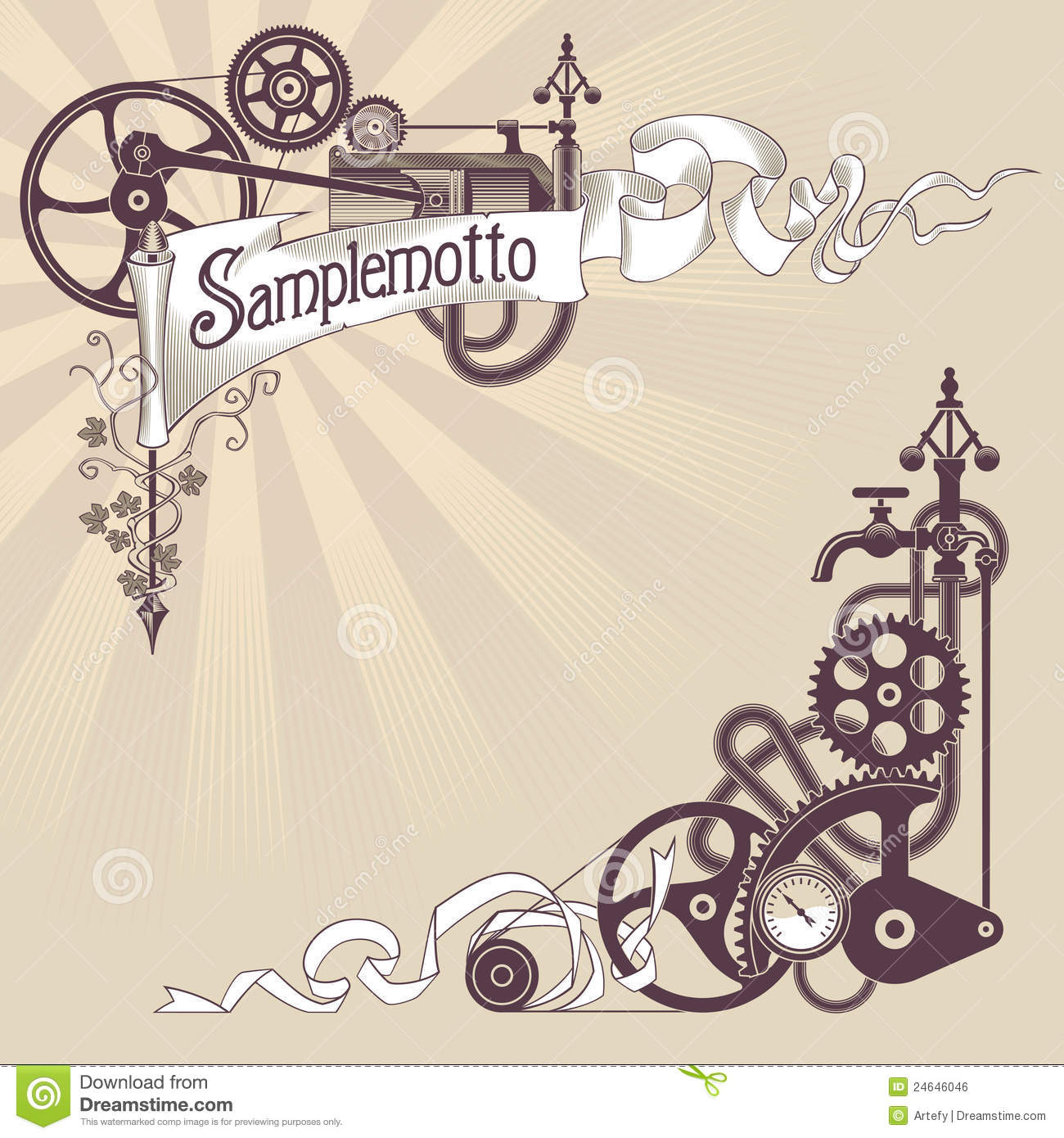 Steampunk banner design