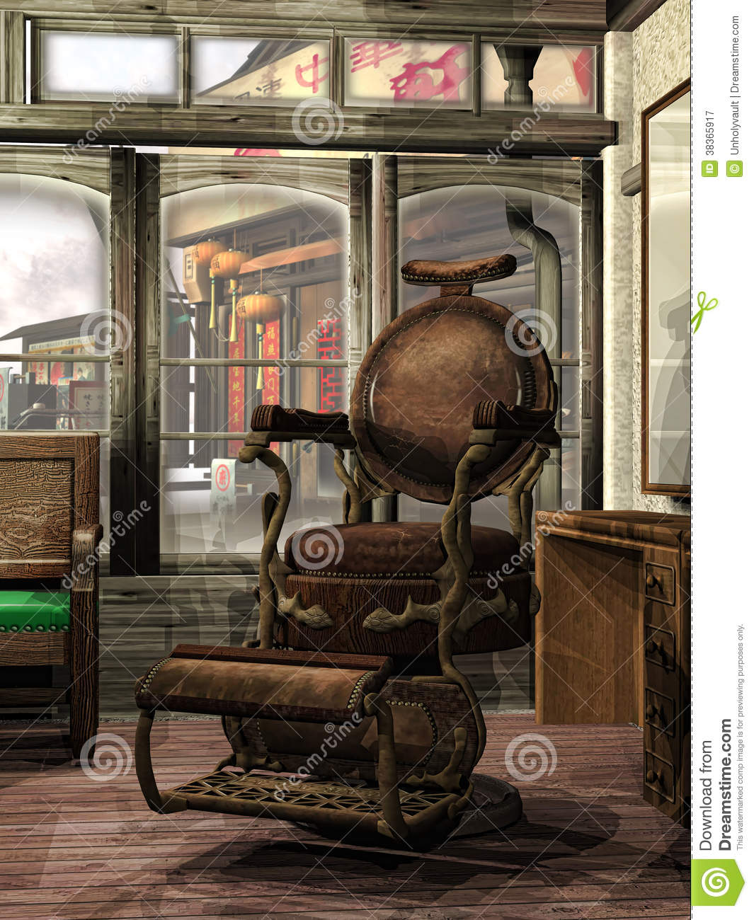 Steampunk Barber's Shop Royalty Free Stock Photography ...  Steampunk Barbe...