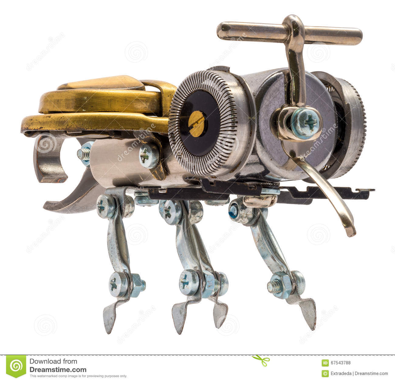 Steampunk bee. stock photo. Image of machine, anatomy - 67543788