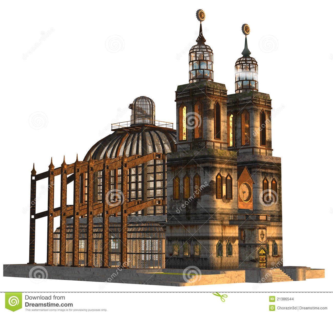 Steampunk Cathedral Stock Images Image 21386544