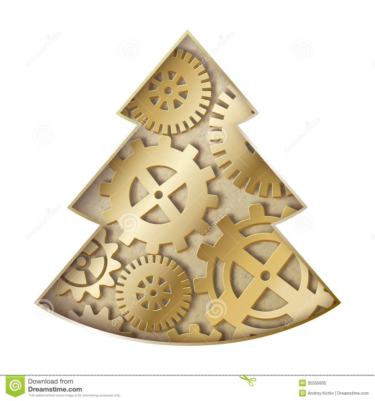 Steampunk Christmas Tree Royalty Free Stock Photo Image