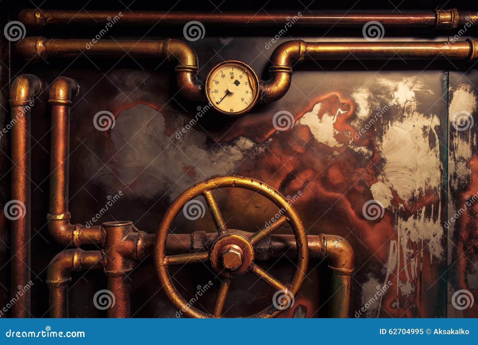 Steampunk do vintage do fundo