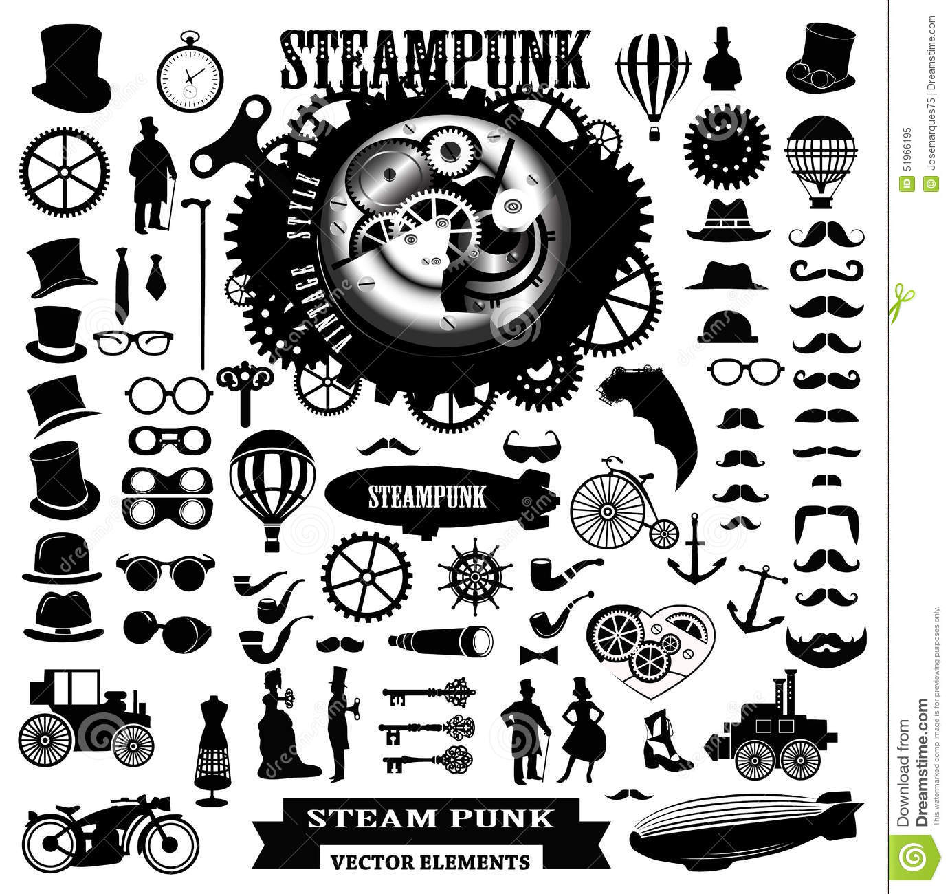 Steampunk Elements. Ve...
