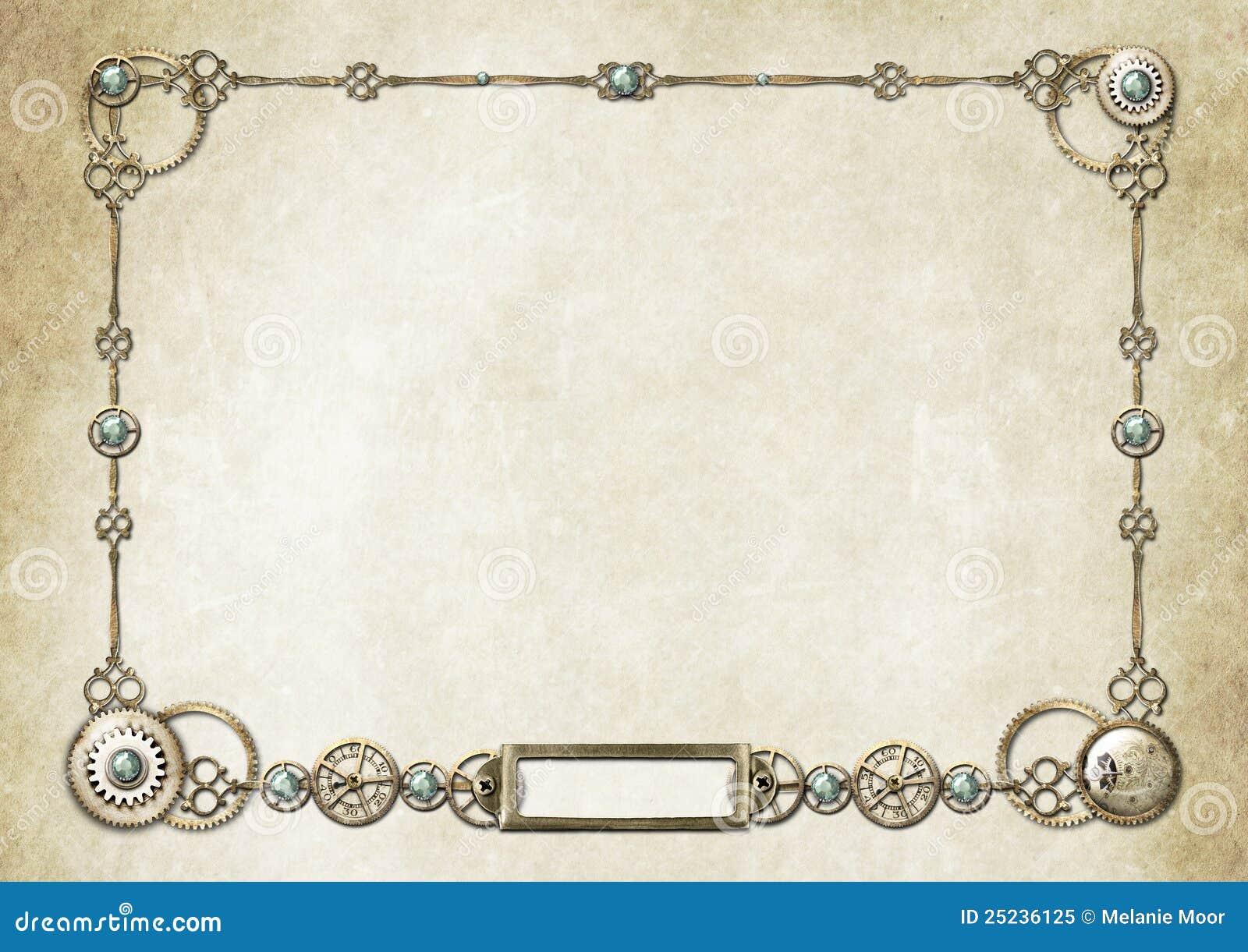 Steampunk Frame 2 stock illustration. Image of gold ...