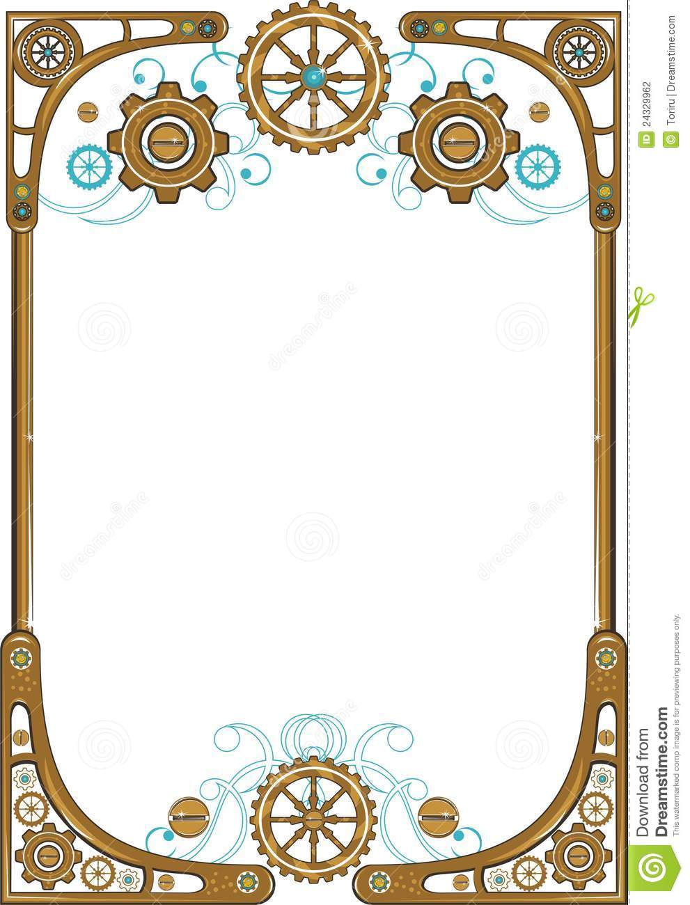 Steampunk frame stock vector. Image of ancient ...