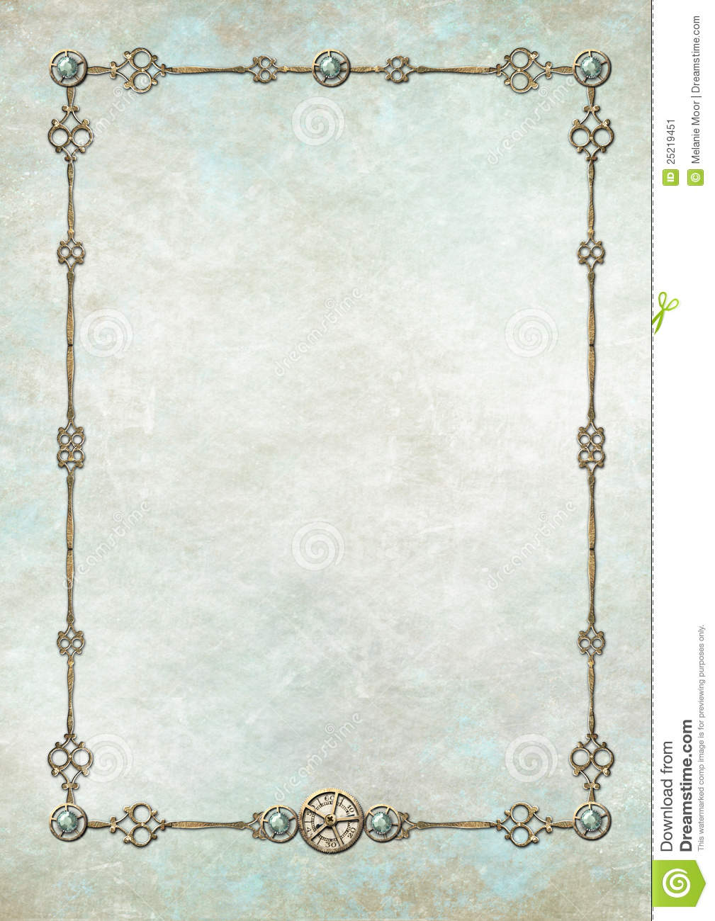 Steampunk Frame With Gemstones Stock Illustration ...