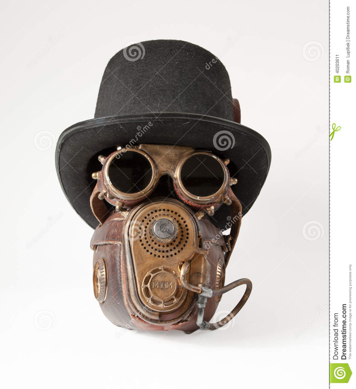 Steampunk Hat Goggles And Mask Stock Photo Image 40203611