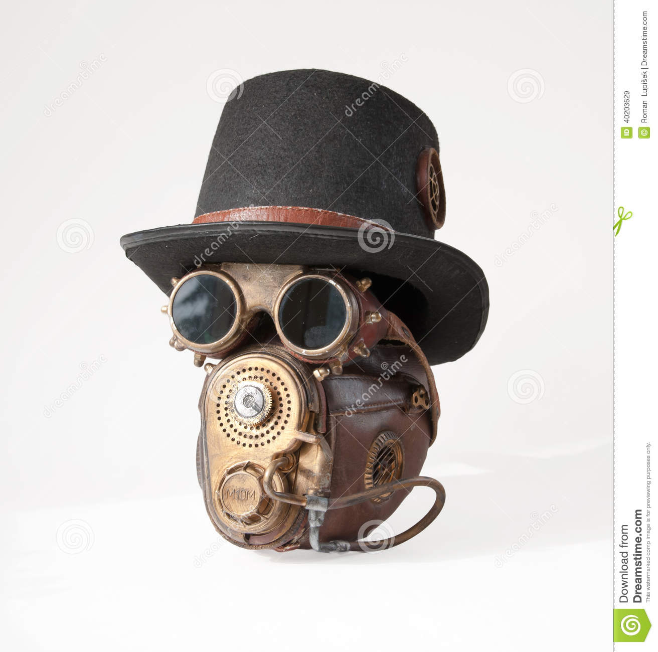 Steampunk Hat, Goggles And Mask Stock Photo - Image: 40203629