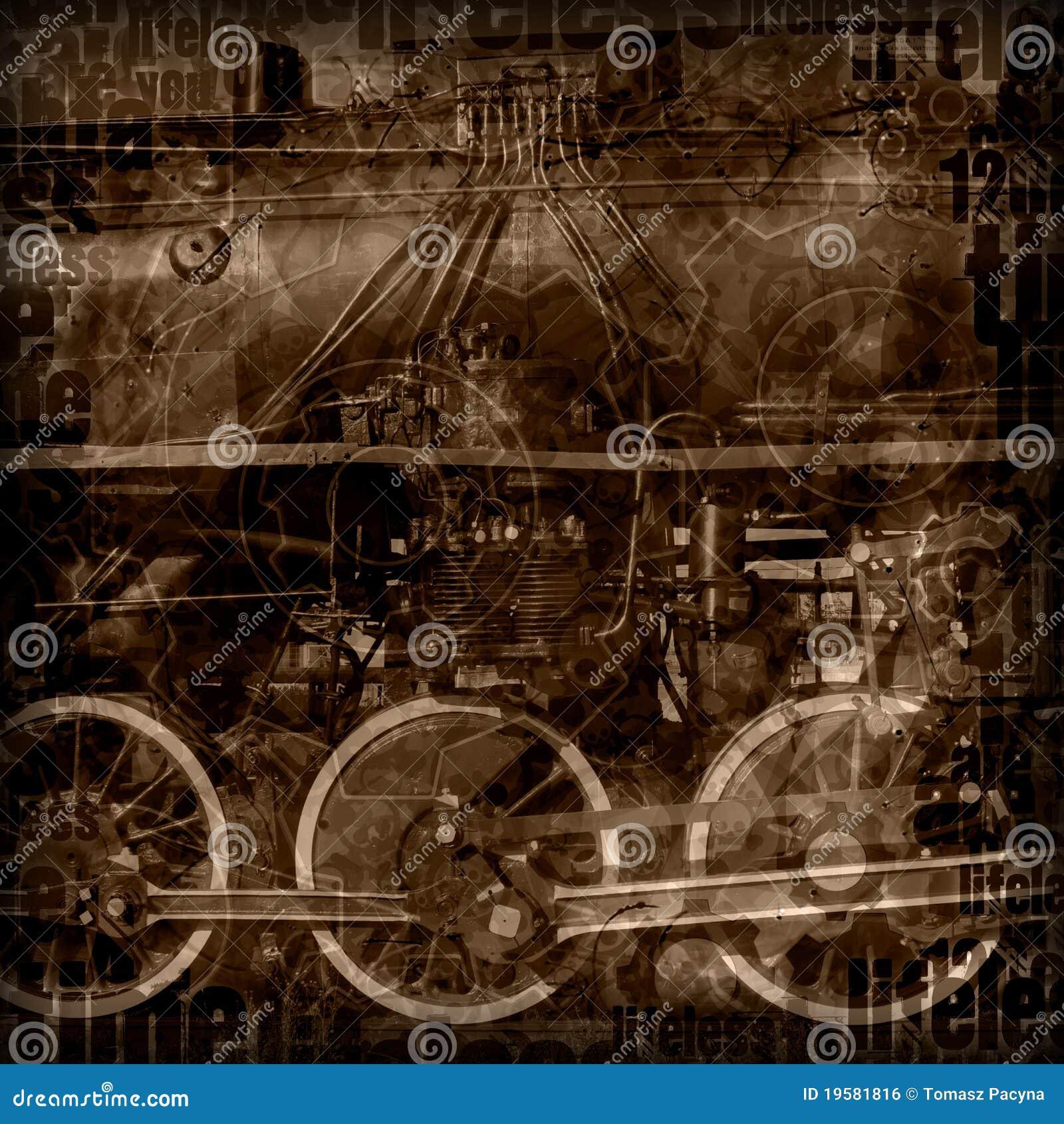 Steampunk Machinery Illustration Stock Illustration ...