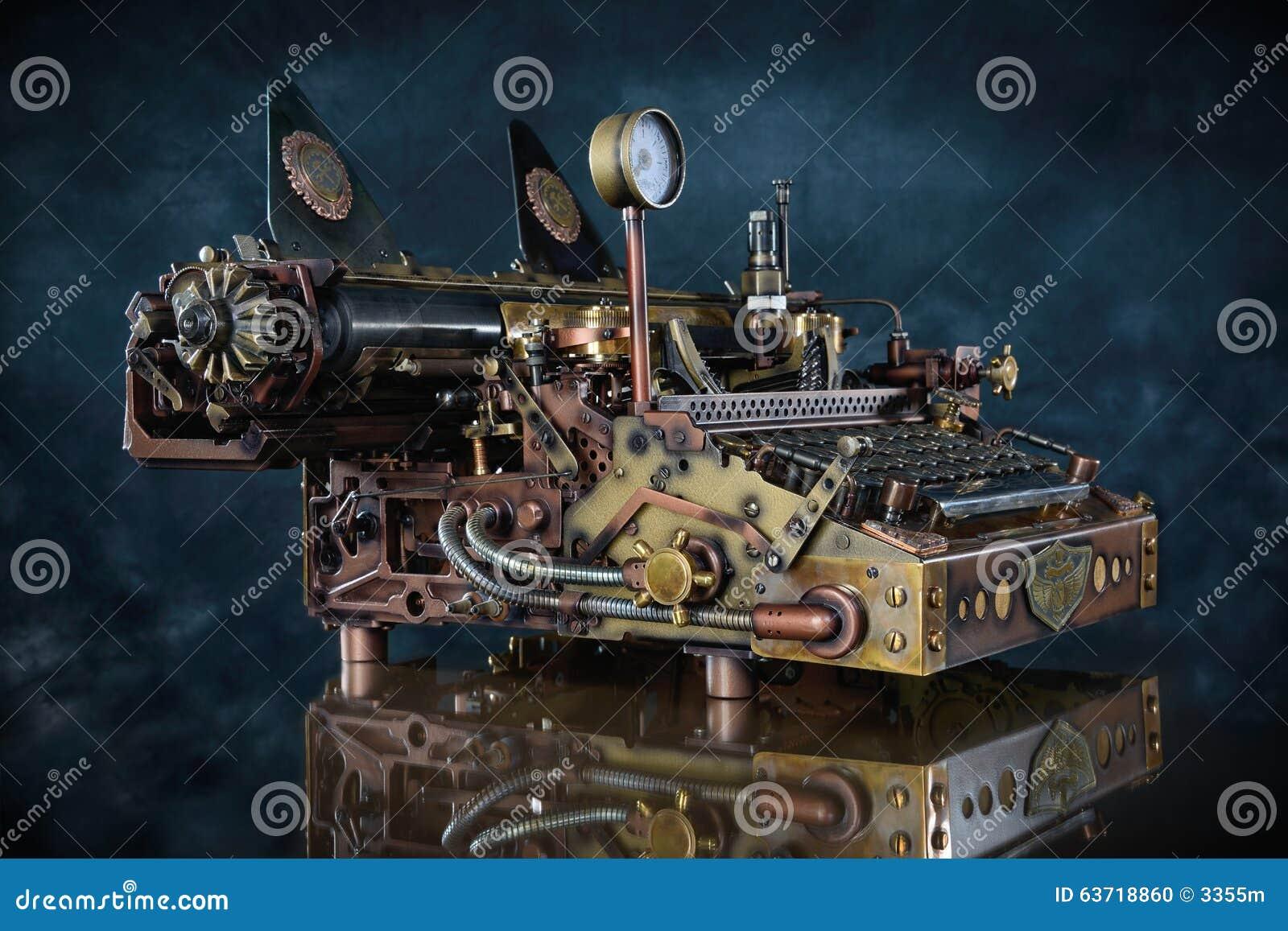 Steampunk maszyna do pisania