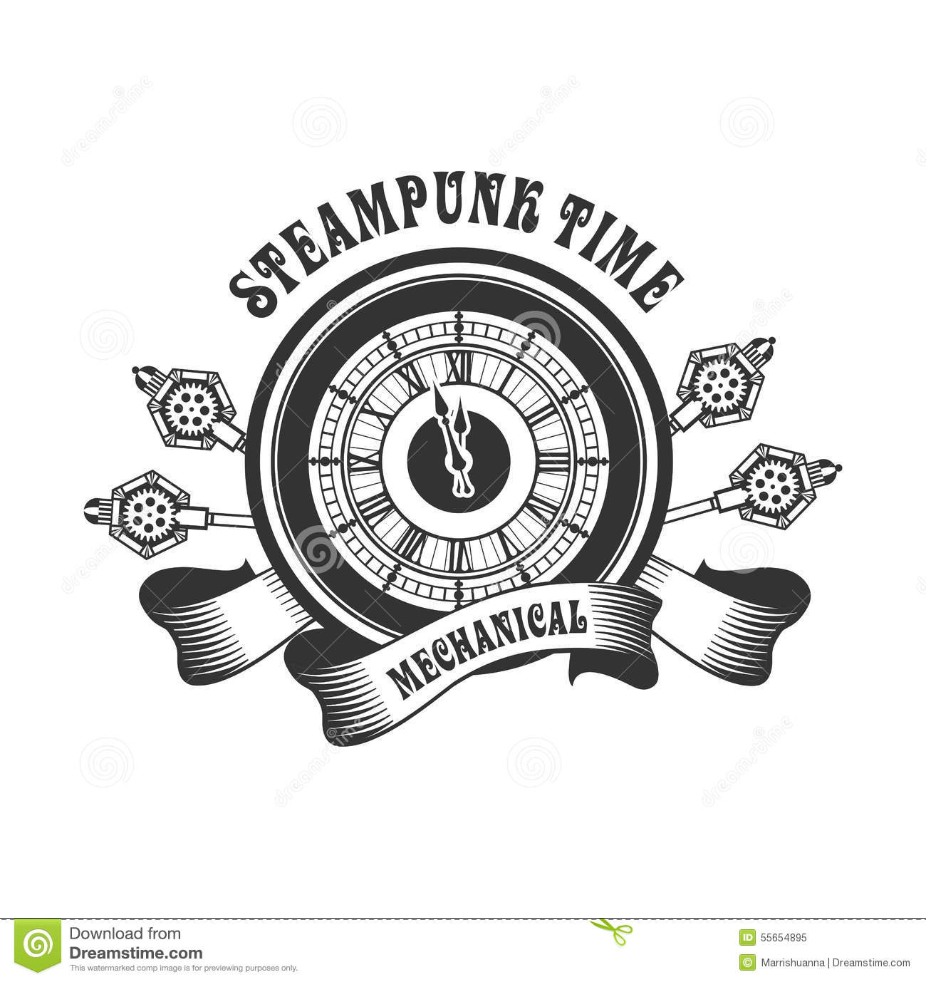 Steampunk Mechanism Stock Vector - Image: 55654895
