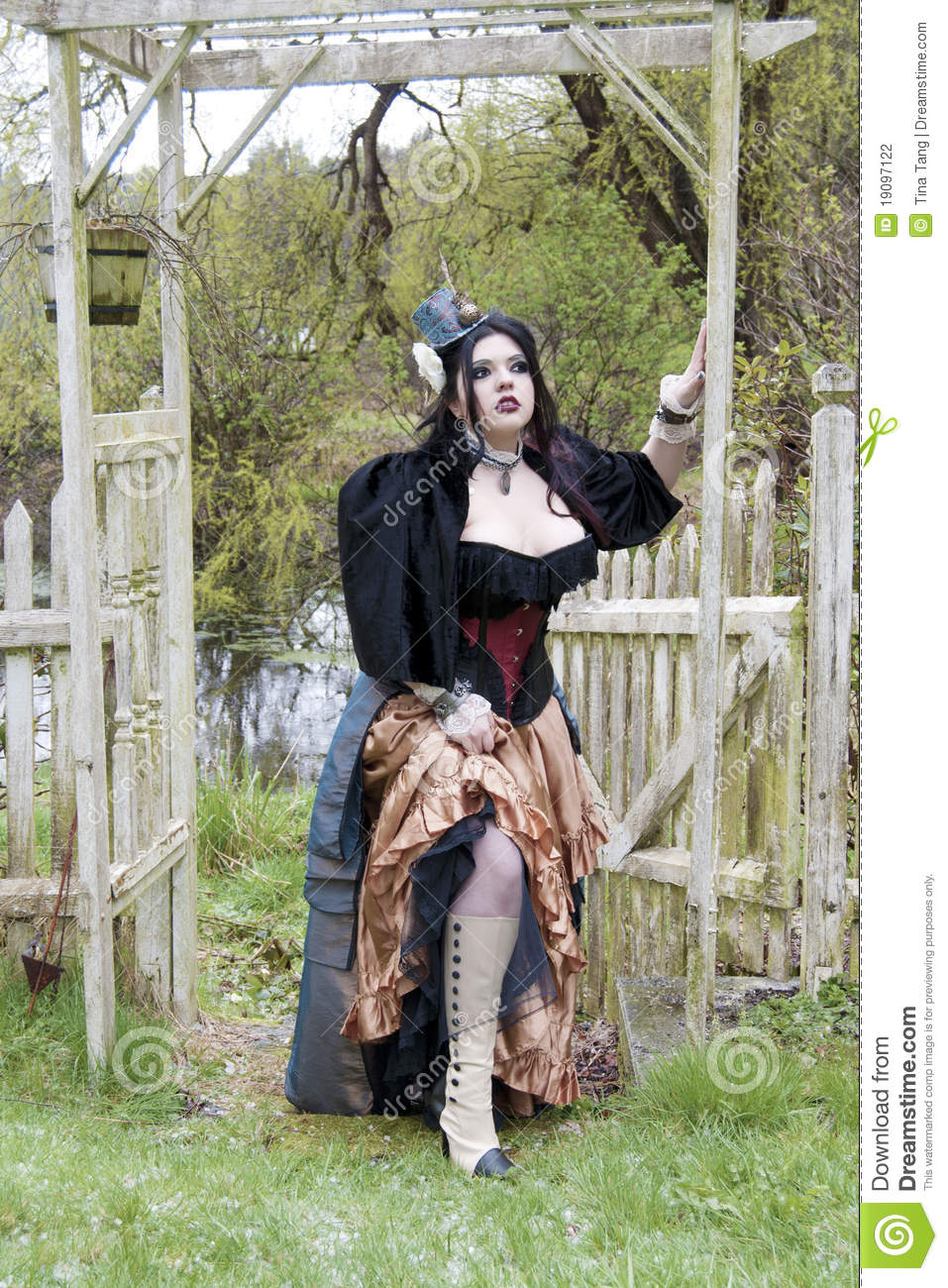 Steampunk Model Outdoors Stock Photography Image 19097122