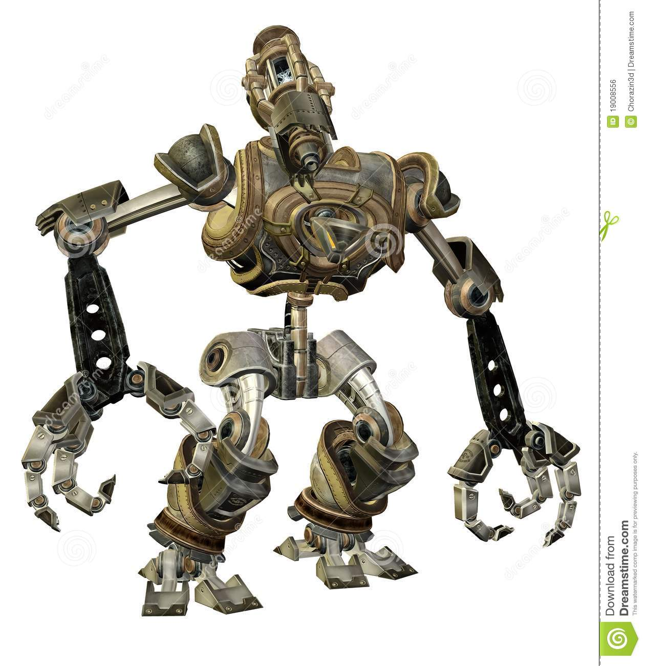 Steampunk Robot 1 Royalty Free Stock Image - Image: 19008556