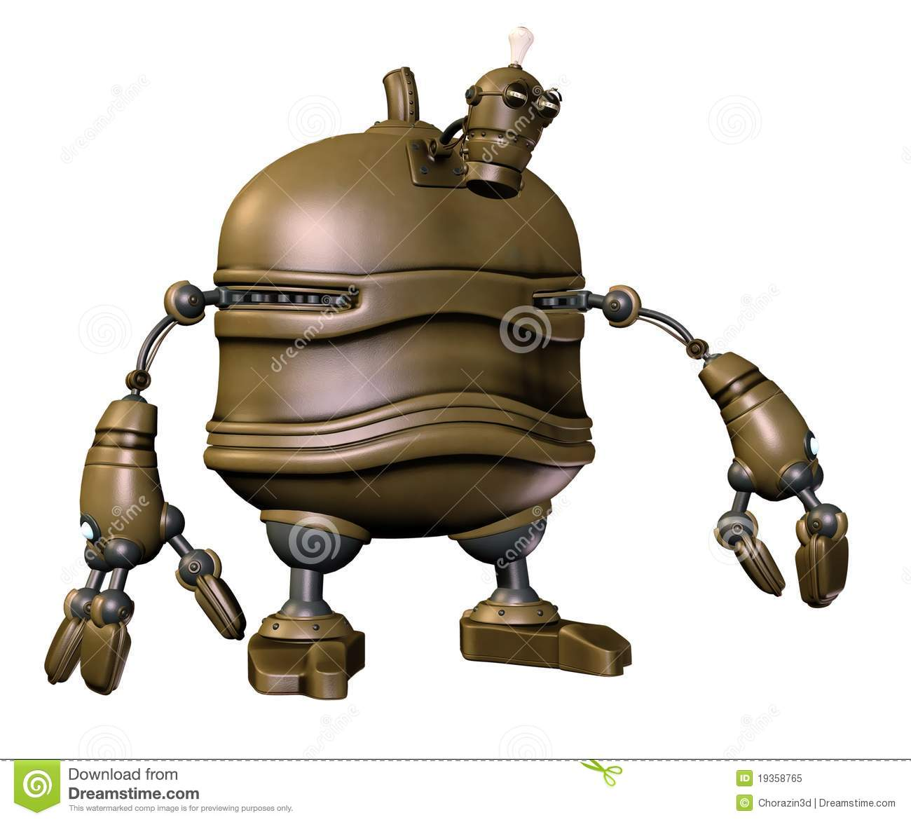 Steampunk robot 3 stock illustration. Illustration of ...