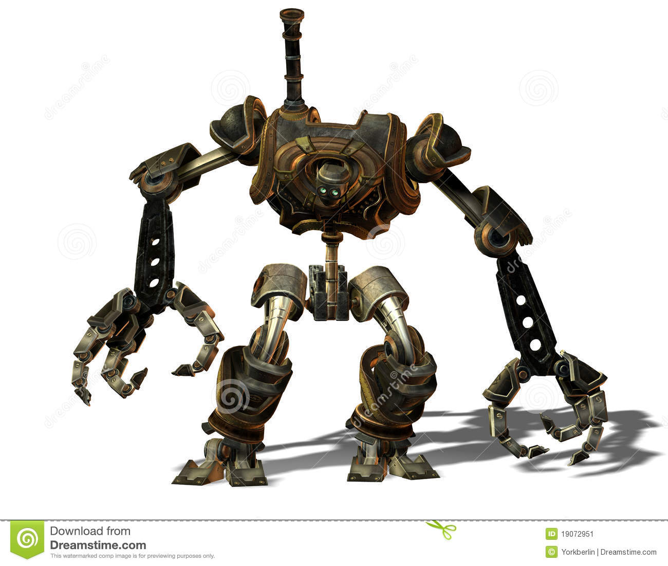 Steampunk robot from the future