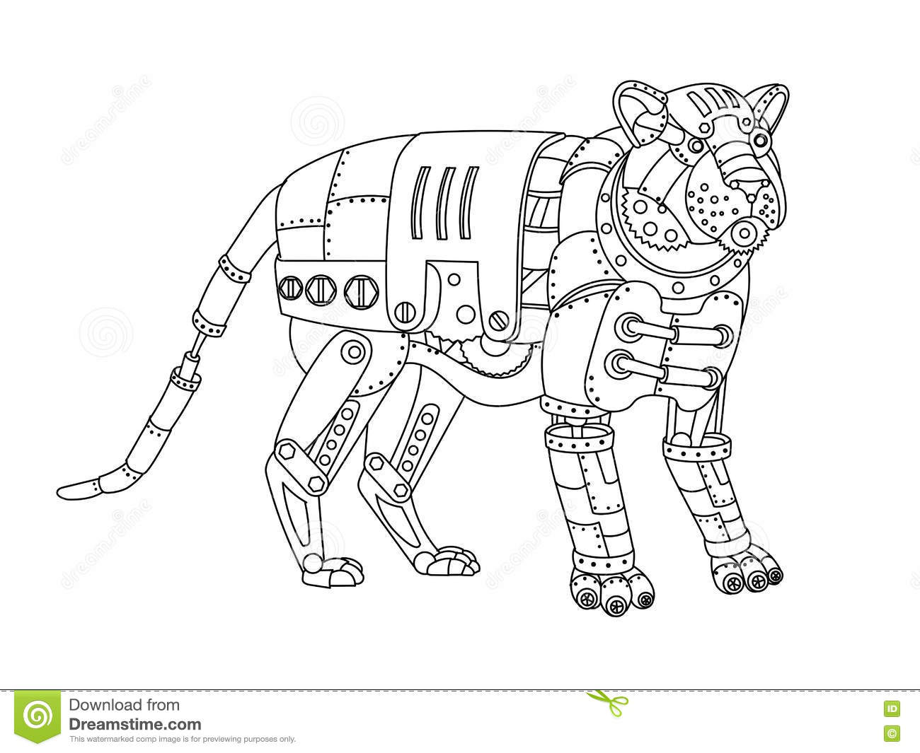 free animal mechanicals coloring pages - photo#18