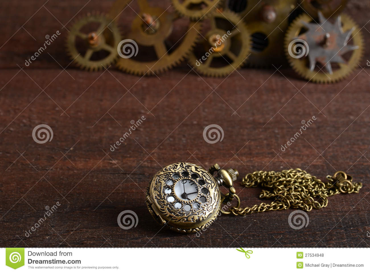 Steampunk Style Watch With Gears Royalty Free Stock Photos ...