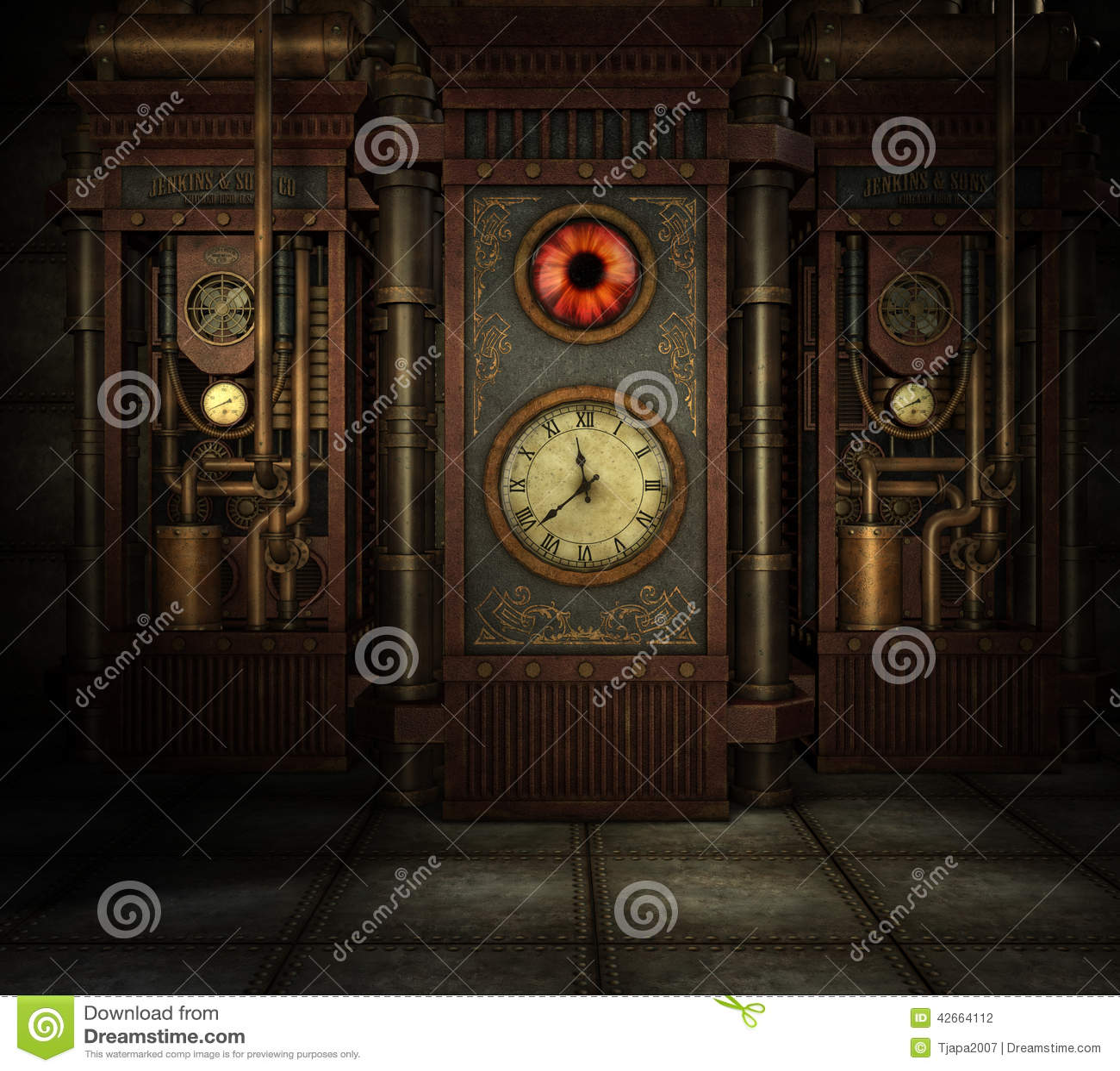 Steampunk Time Stock Photo Cartoondealer Com 83302386