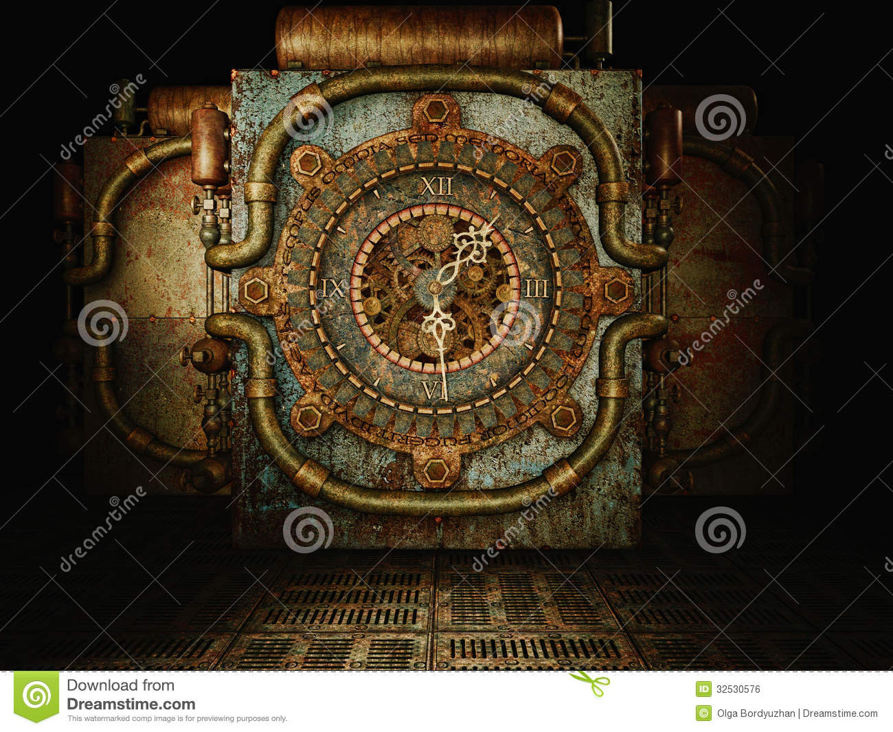 Steampunk Time Royalty Free Stock Image Image 32530576 .