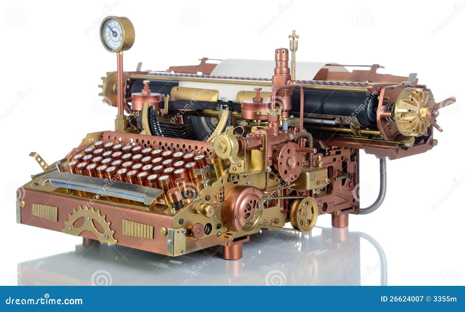 Steampunk Typewriter. Royalty Free Stock Photography - Image: 26624007