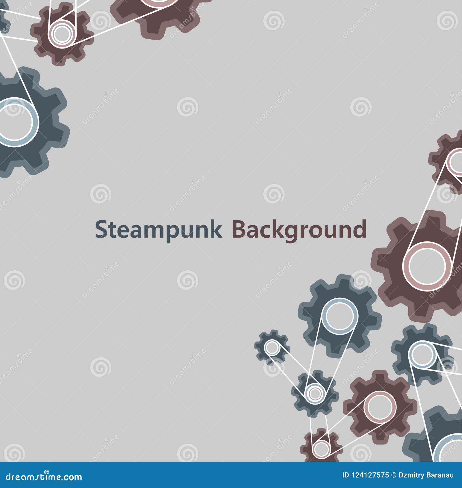 Steampunk uitstekende grafische stijl als achtergrond De oude van de het toesteltextuur van het metaalradertje vector van het de