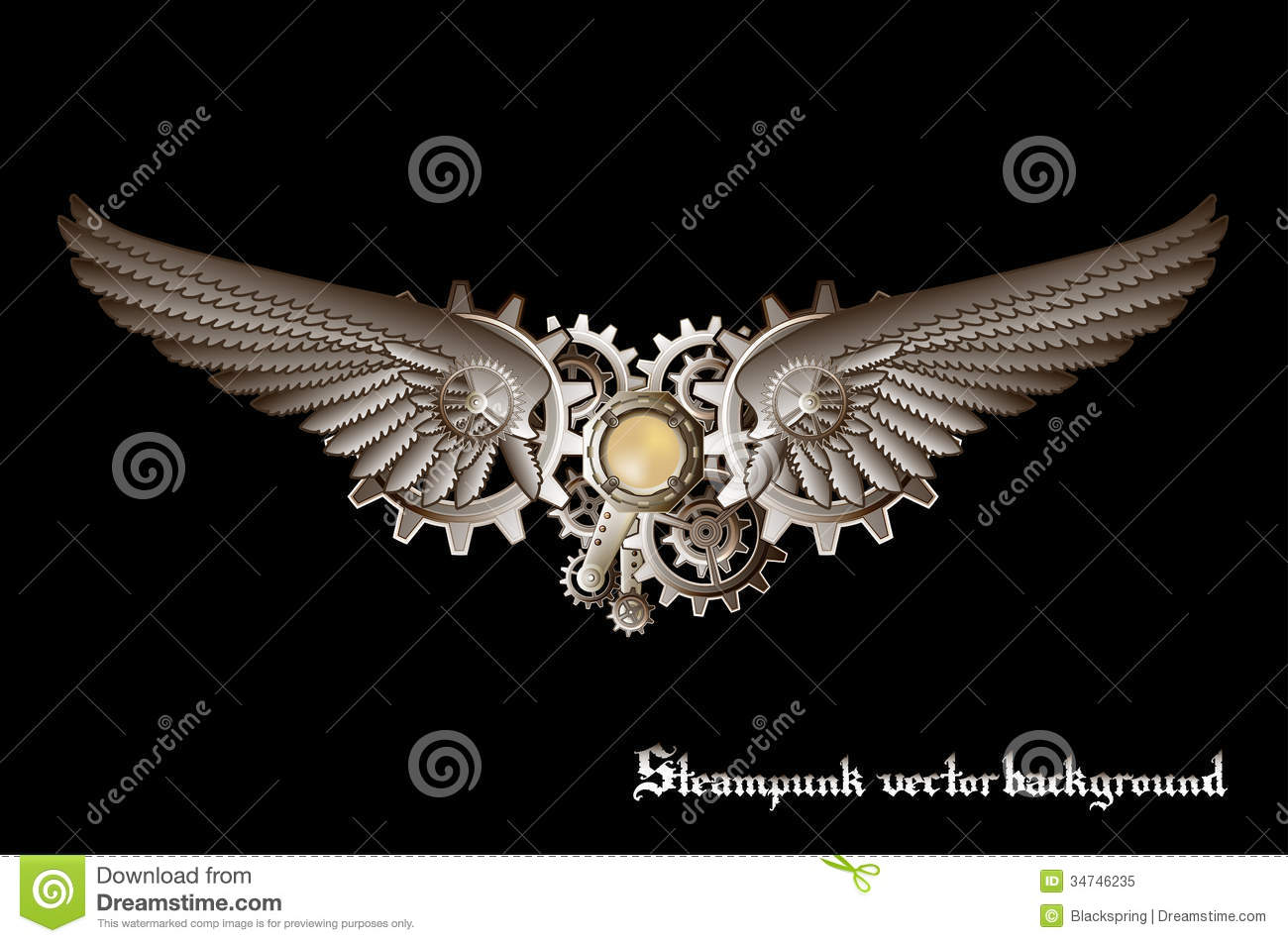 Steampunk Wings Royalty Free Stock Photo Image 34746235