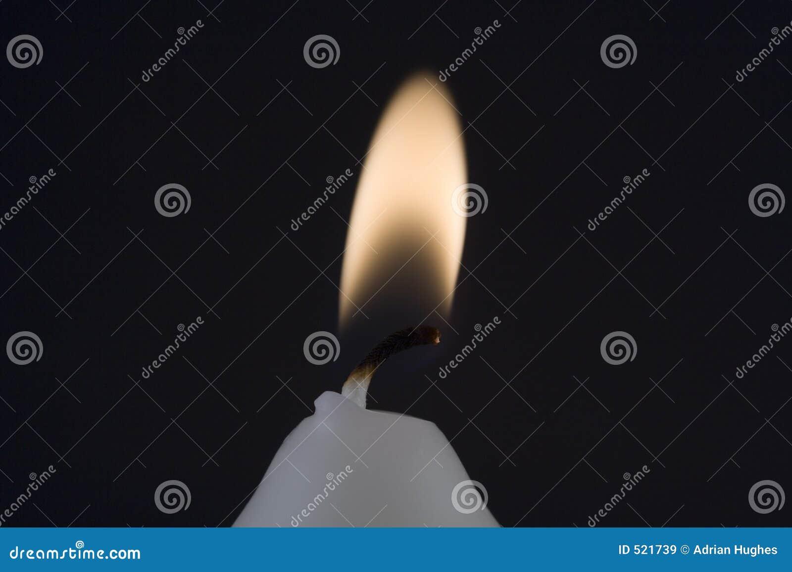 Stearinljusflamma