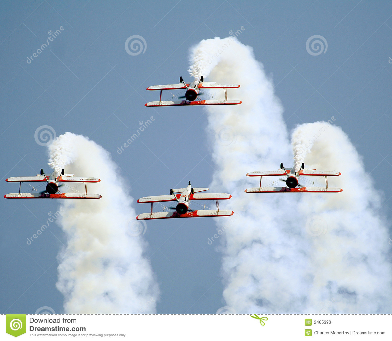 Download Stearman Bi-planes Inverted Stock Image - Image of plane, airplane: 2465393
