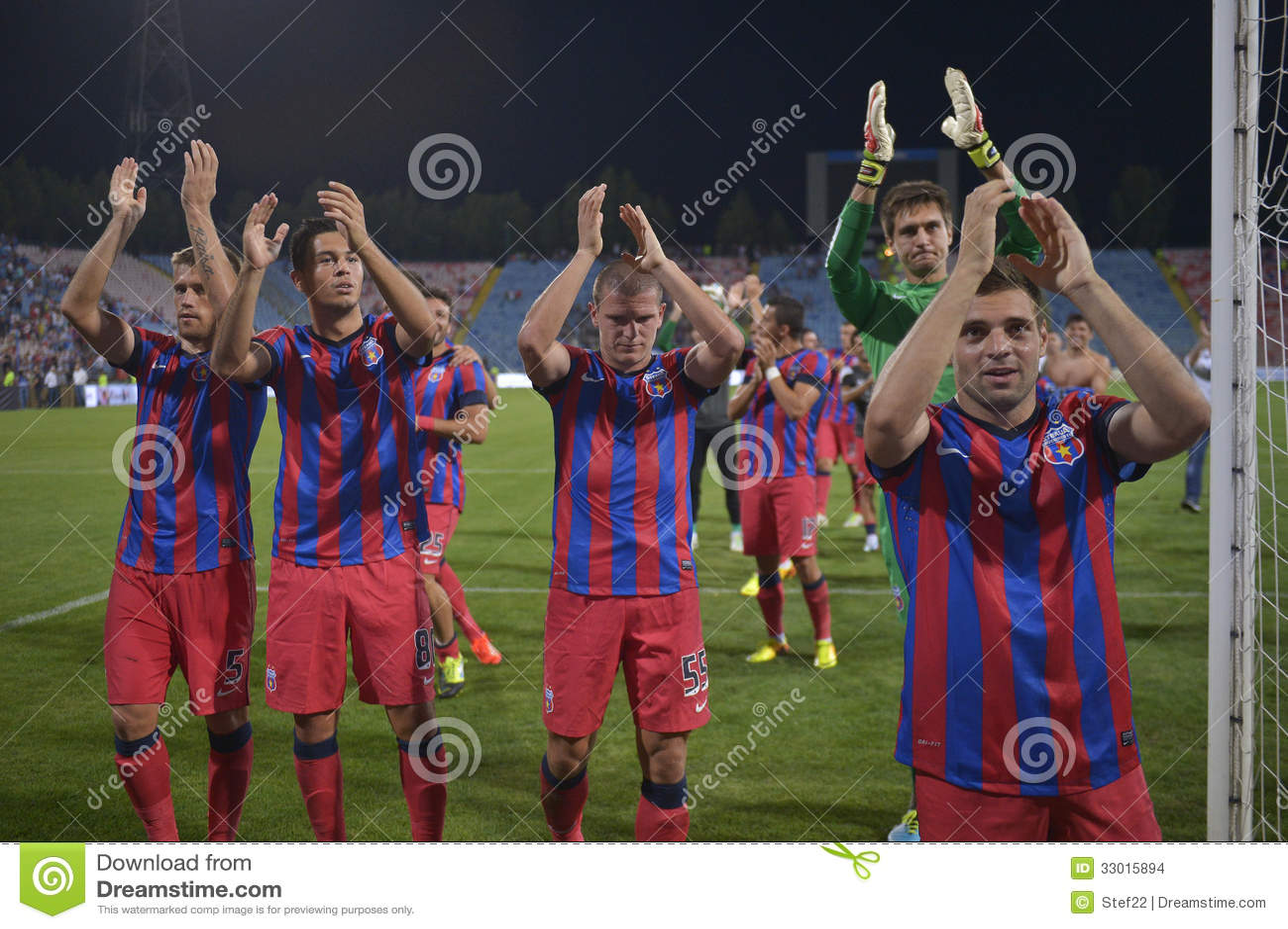FC Steaua Bucarest - CFR Cluj Fotografia Stock Editoriale ... |Steaua Cfr