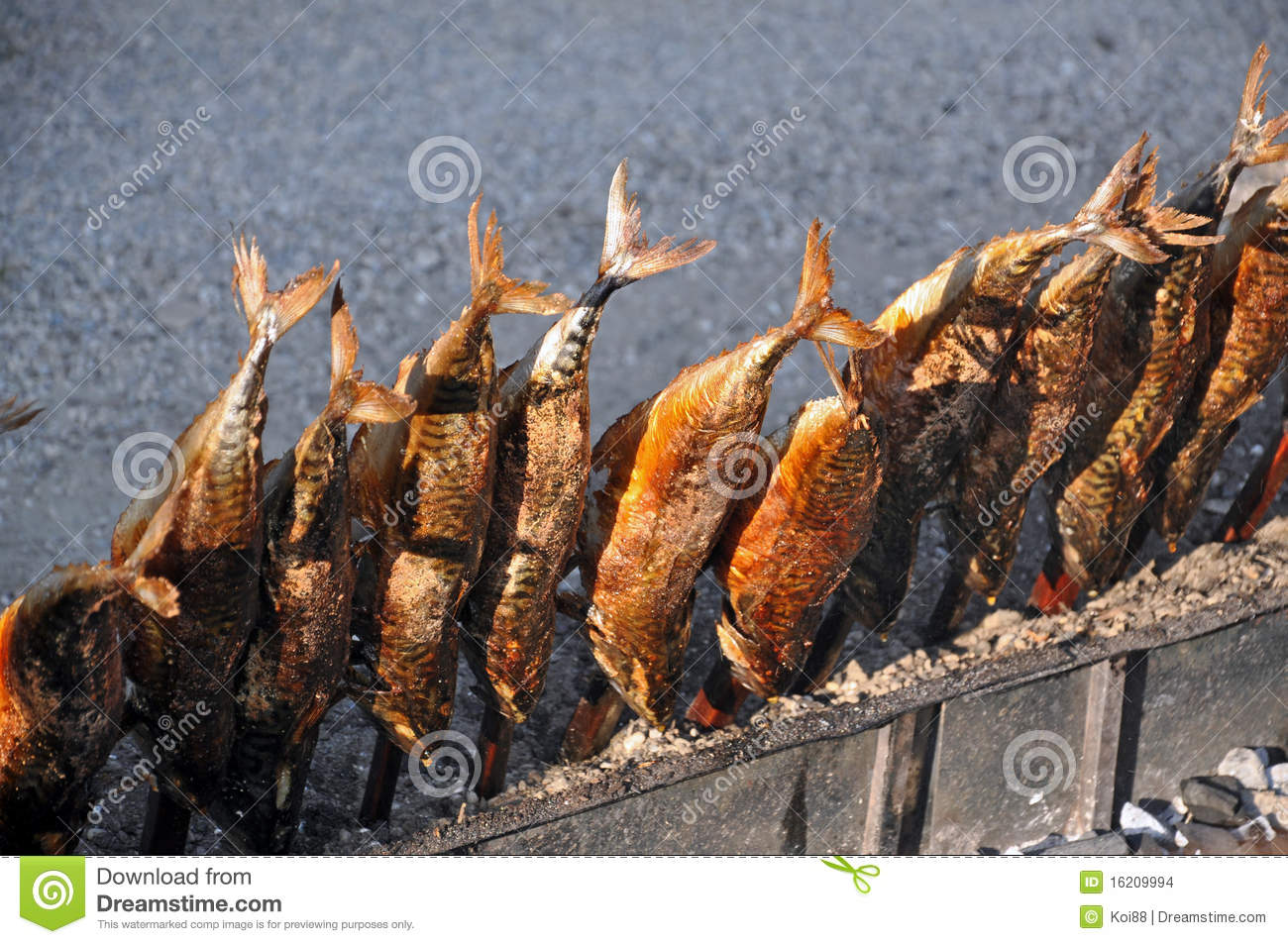 Steckerlfisch fish on a stick stock images image 16209994 for Fish on a stick