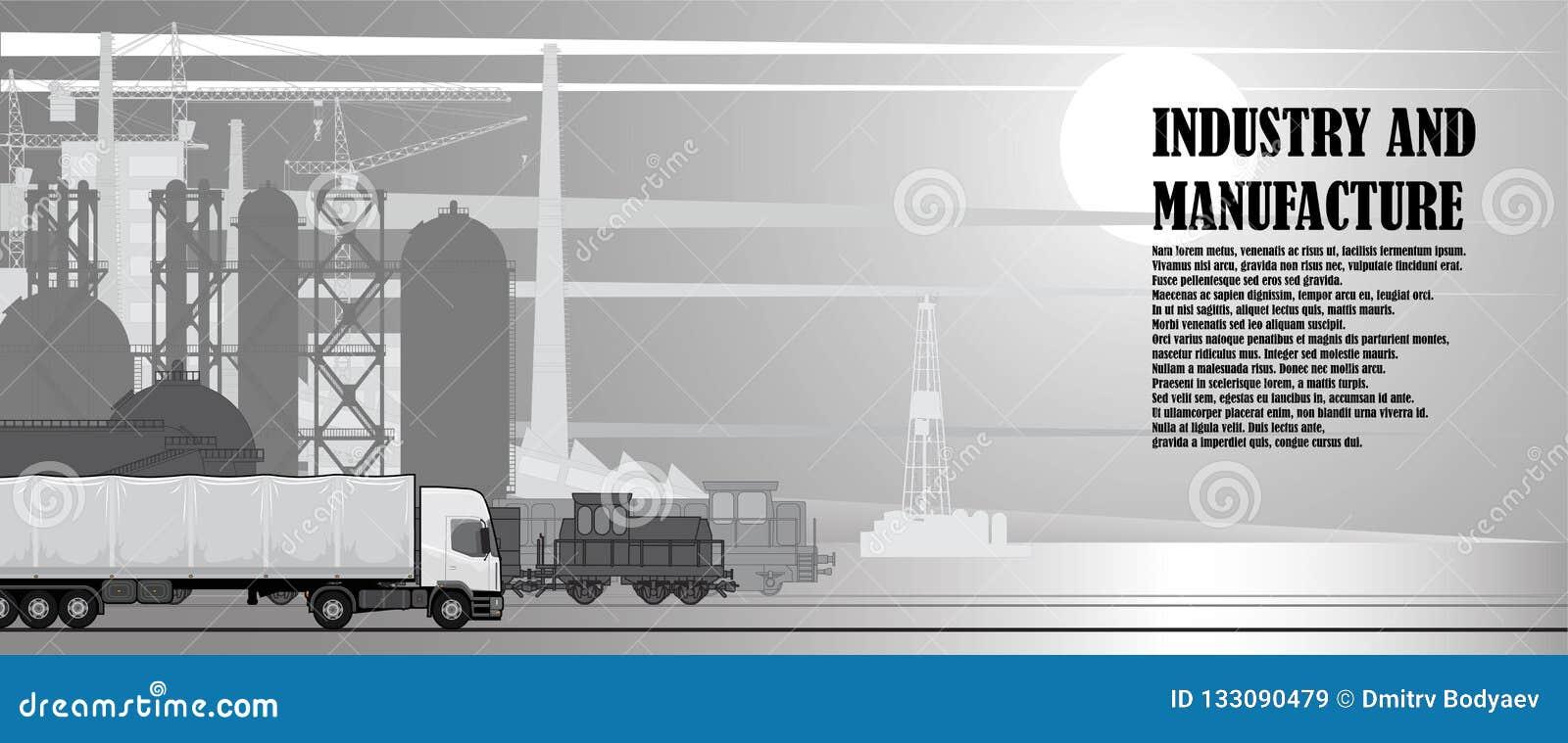 Stedelijk landschap van industriële infrastructuur