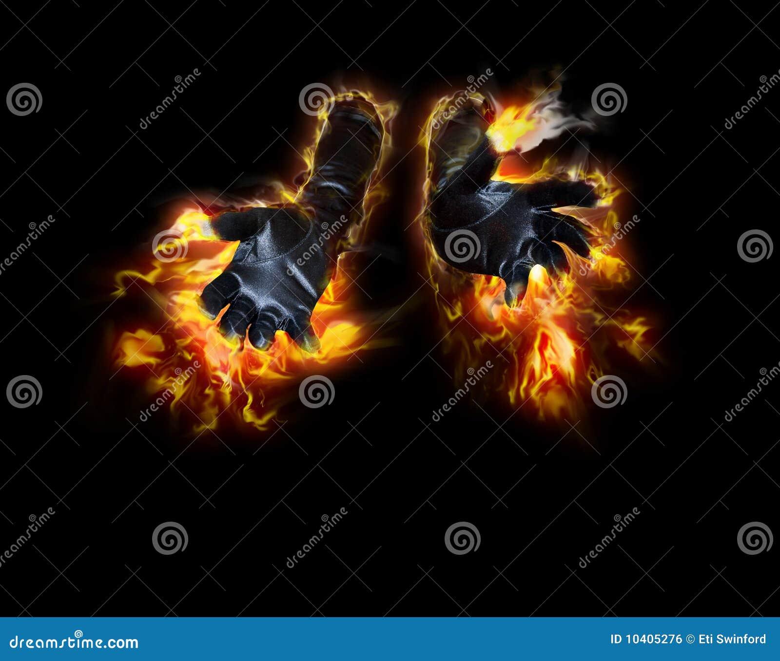 Steek handen in brand