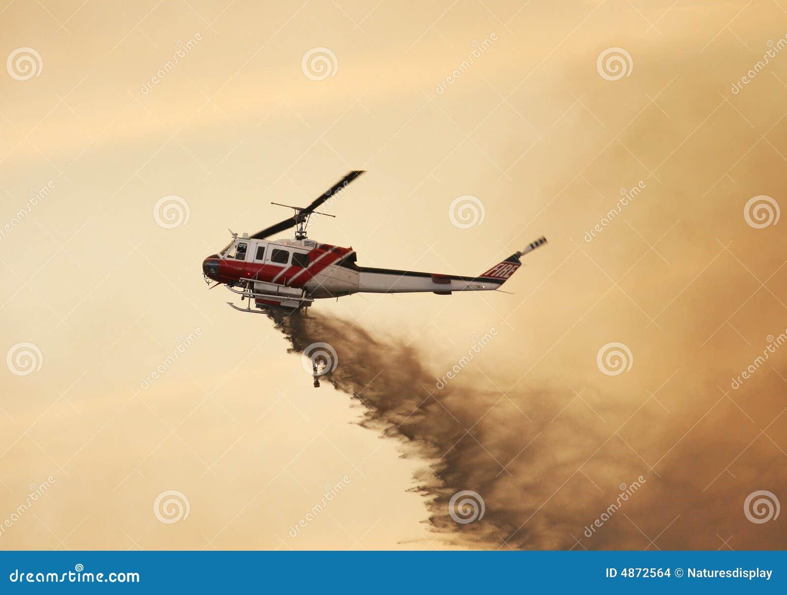 Steek Helikopter in brand
