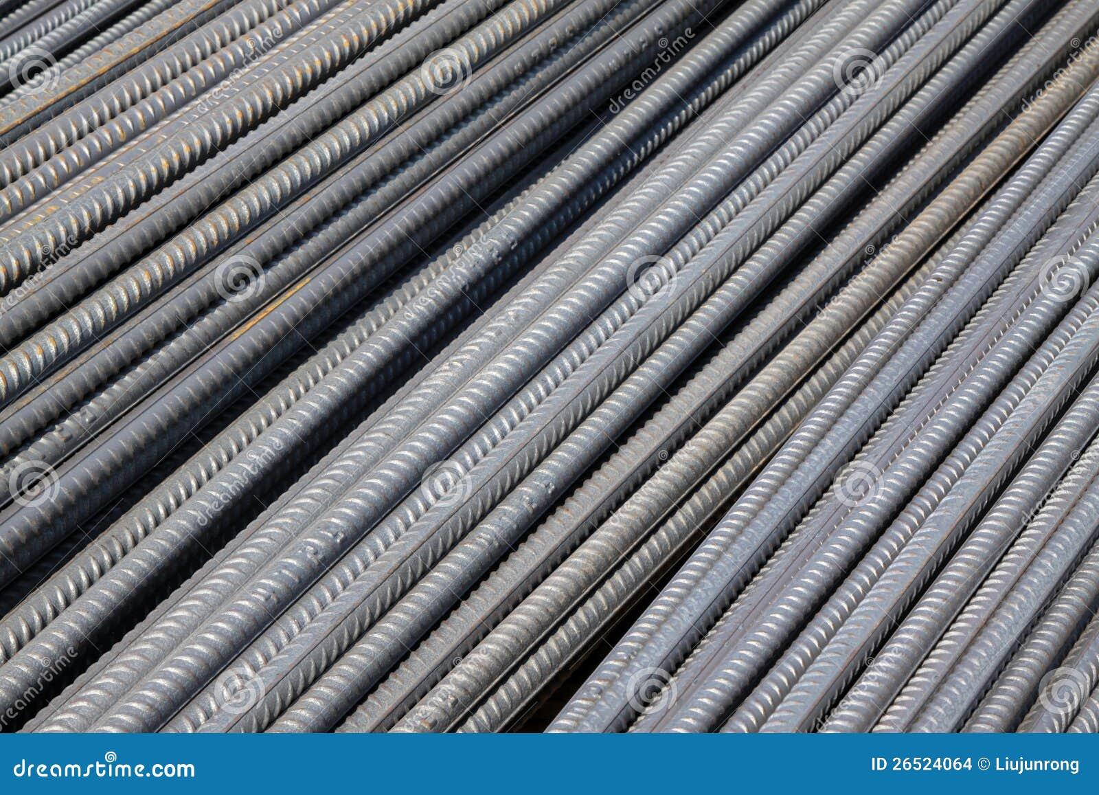 Bar Construction Materials : Steel bars construction materials stock images image