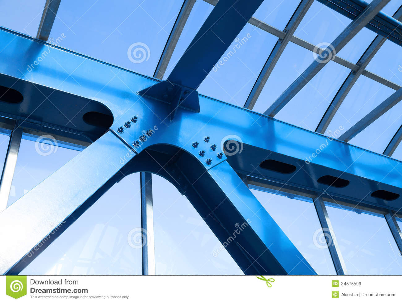 Steel beams royalty free stock images image 34575599 for Modern building construction