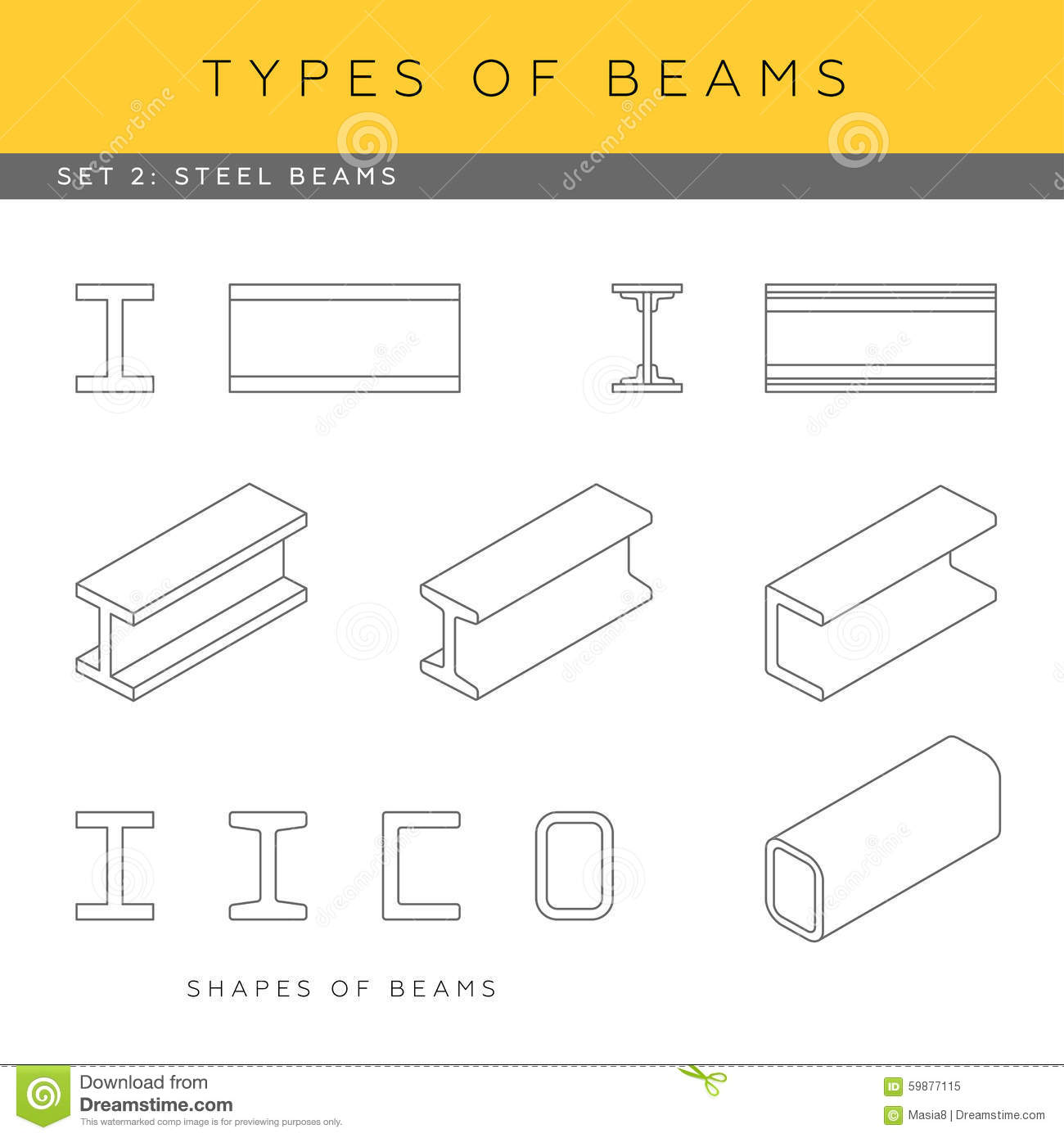 Steel Beams Stock Illustration Image Of Construction