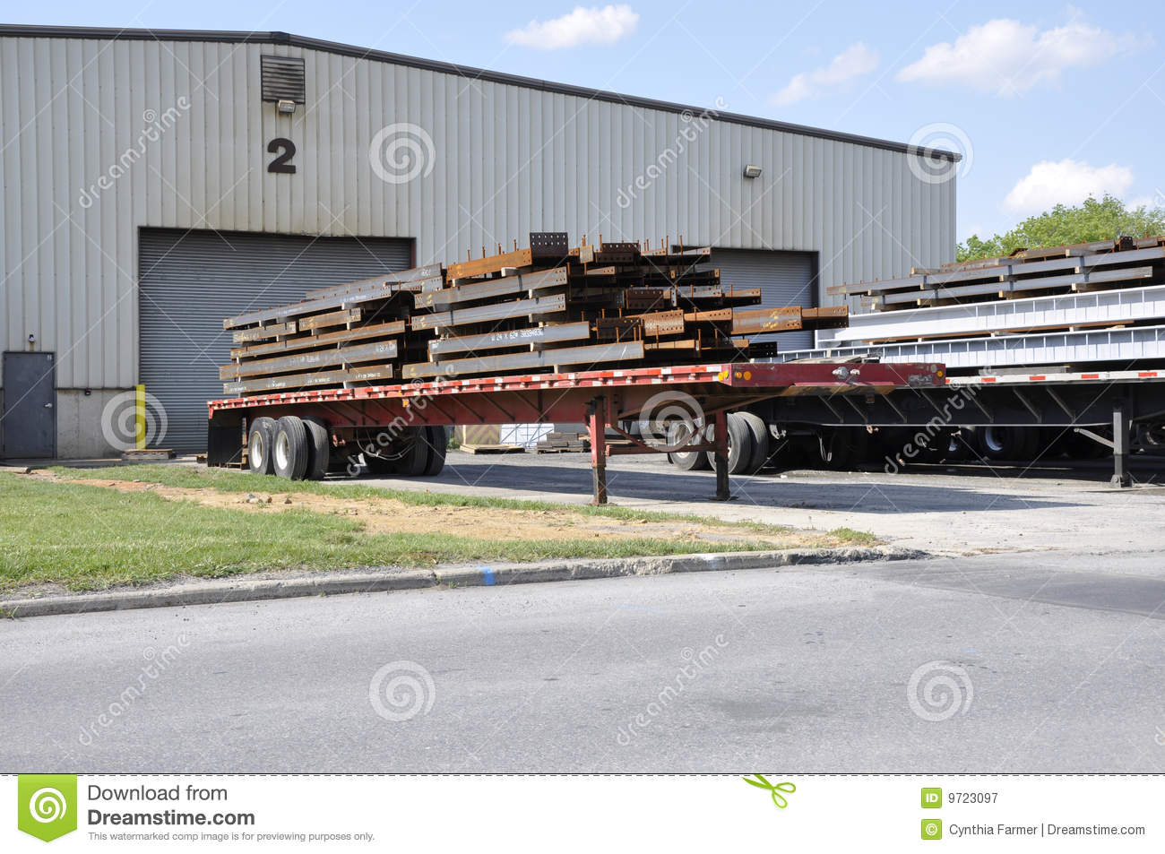steel beams on trucks royalty free stock photography semi truck clipart free Semi Truck Logos