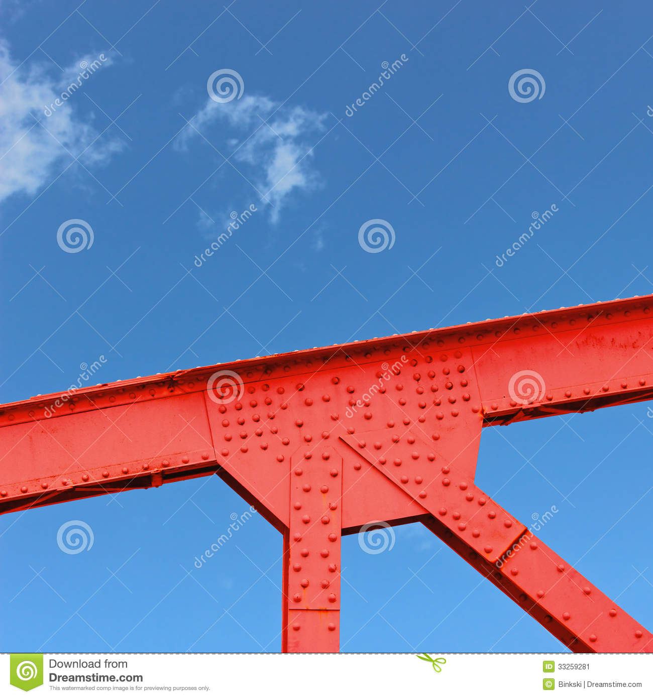 Steel Bridge Gusset Stock Image Image 33259281