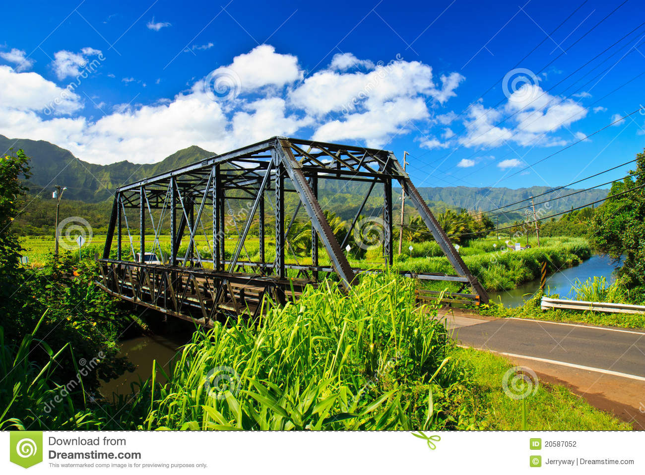 Steel Bridge In Hanalei Kauai Hawaii Stock Photography Image 20587052