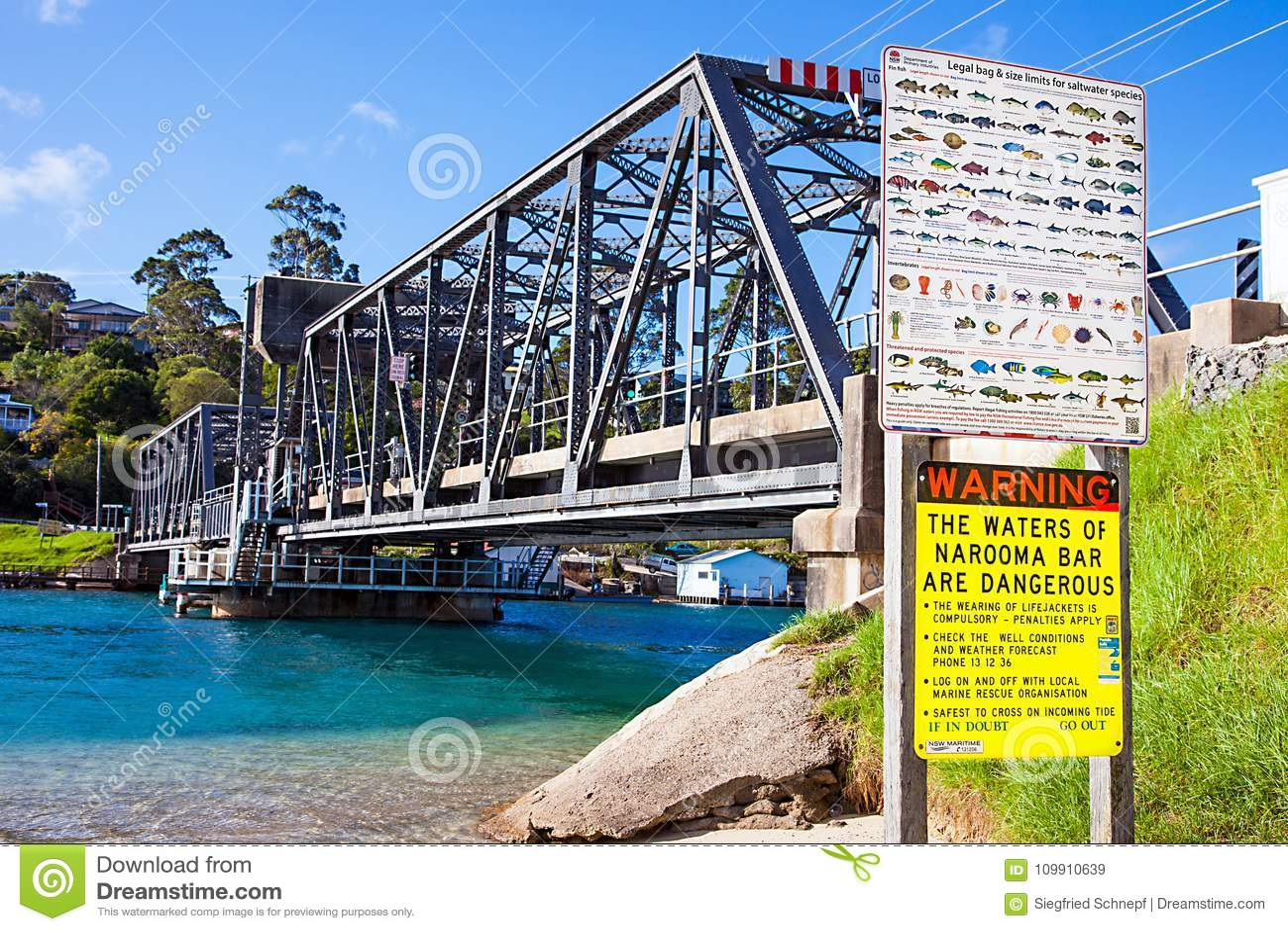 Steel bridge in Narooma Australia on 06.03.2017